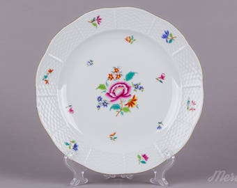 Herend Nanking Bouquet Multicolor Dinner Plate