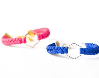 Hexagon Charm Essential Oil Diffuser Bracelet