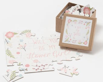 Will You Be My Flower Girl Puzzle, Flower Gift Gift, Puzzle for Flowergirl, Creative Way To Ask Flowergirl, Be My Flower Girl