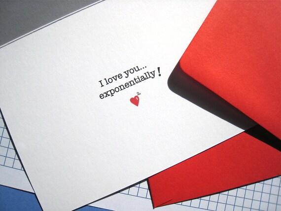 Geek Valentine Card Math Nerd Math Teacher Love Card