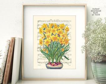 Flower poster - Creative decor - romance decor -  Poster Dictionary art, hipster Art - Print Wall Decor, Nursery Wall Art