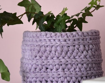 Small Crochet Planter Crochet Pot Planters & Pots Flower Pot Succulent Planter Sping Decor Mother's Day Gift storage basket crochet bowl