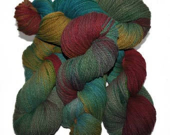 Hand dyed yarn - Columbia Wool yarn, Worsted weight, 170 yards - Gefion