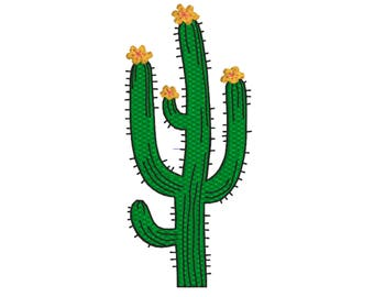 Cactus Machine Embroidery Design for digital download