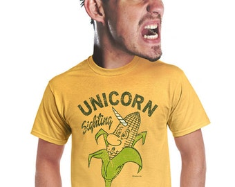 unicorn t-shirt, ironic t-shirt, old school, vintage insp, corny puns, quirky t-shirt, gift for men, geeky tshirt, funny graphic tee, s-4xl