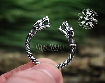 Viking Fenrir Wolf Head Ring - Made of 925 Sterling Silver - US Sizes 9/10/10.5 --- Norse/Odin/Wolves/Ragnarok