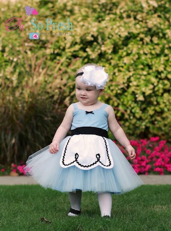 ALICE IN WONDERLAND dress baby 1st birthday costume dress