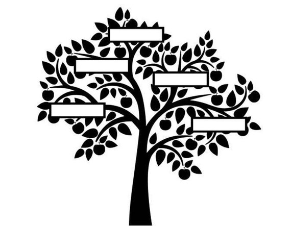 family tree svg family tree svg dxf cricut silhouette