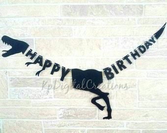 Dinosaur birthday banner, Dinosaur banner, Jurassic park birthday, Dinosaur party, Dinosaur birthday, Jurassic Park, Dinosaur decor