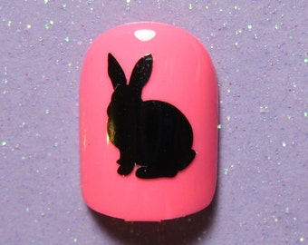Bunny rabbit vinyl nail decals, nail stickers, planner stickers, bunny lover