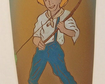 Rozart Pottery Twainware Tom Sawyer Fishing Vase