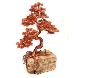 Wire Tree, Driftwood Sculpture, Wire Tree Sculpture, Modern Sculpture, Metal Sculpture, Copper Wire, Wire Sculpture, Copper Sculpture, Art
