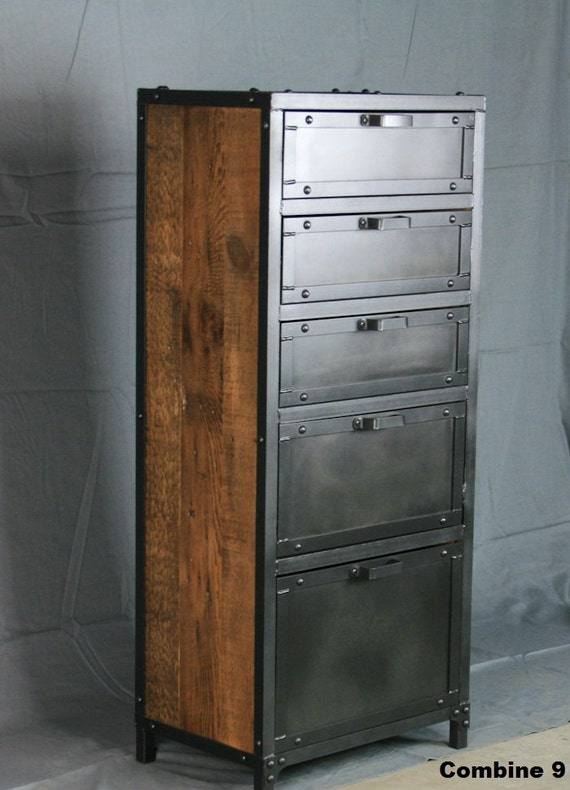 Vintage Industrial Lingerie Chest. Rustic Reclaimed Wood And
