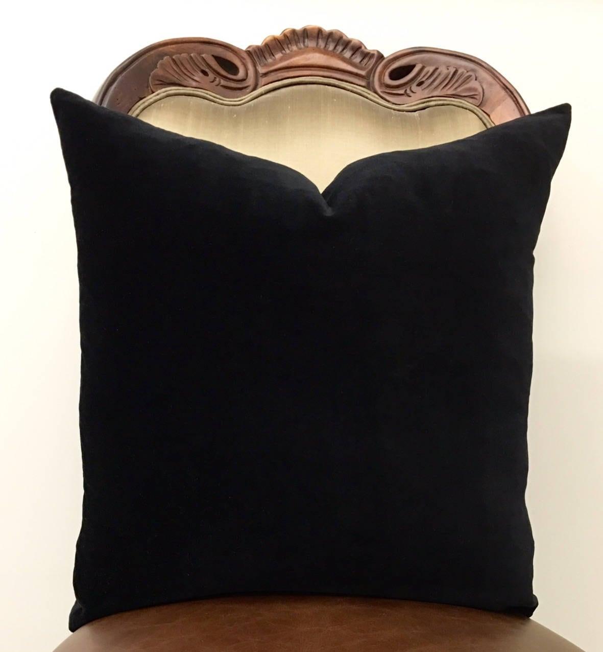 Luxury Black Throw Pillows Velvet Pillow Cover Black