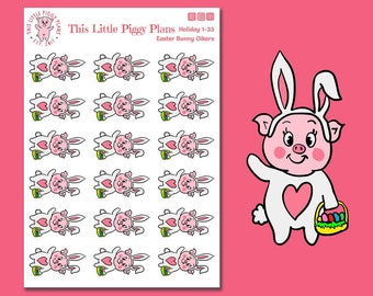 Easter Bunny Oinkers - Easter Planner Stickers - Bunny Stickers - Easter Bunny Stickers - Spring - Holiday Stickers - Easter [Holiday 1-33]