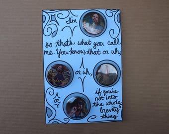 The Dude Button Set   Big Lebowski Pinback Button   Greeting Card