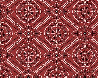 Bandana Fabric, Workin the West MAS8106-R Maywood Studio, Western Fabric, Country Fabric, Red Bandana Quilt Fabric, Cotton