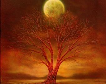 fire Moon Handmade card