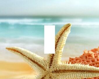 Beach Starfish Shell Single Light Switch Plate Cover