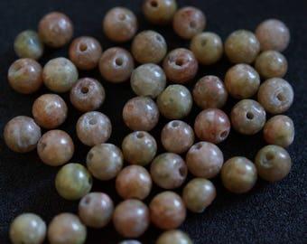45 H2028 4mm UNAKITE beads