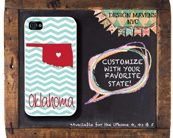 Oklahoma iPhone Case, Gift for Her iPhone Case, State Love Case, iPhone 4, 4s, iPhone 5, 5s, 5c, iPhone 6, 6s, 6 Plus, SE, iPhone 7, 7 Plus