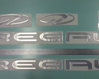 "Regal boat Emblem 28"" chrome + FREE FAST delivery DHL express - Stickers Set - Graphics Decal"