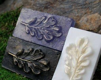 3 Oak Leaf Soaps: a New Leaf original - hand-crafted guest soaps - hostess gift