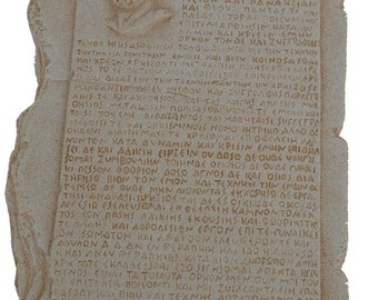 Oath of Hippocrates sculpture Hippocratic oath tablet (Greek)