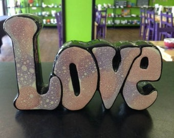 Love Word Decorative Plaque