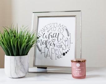 Soul Happy Calligraphy Print