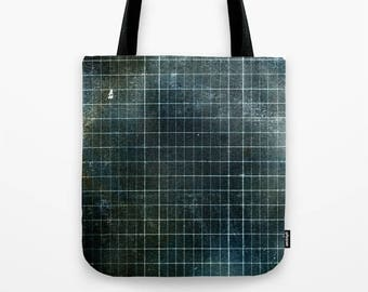 WEATHERED GRID Project Bag or Tote Bag, three sizes available