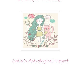Astrology Baby Report, Astrology Reading, Astrology Report, Birth Chart, Natal Chart, Horoscope, Zodiac