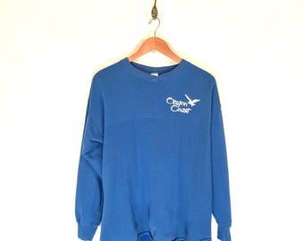 90s Oregon Coast Seagull Sweatshirt. Vintage Oegon Coast Souvenir Jersey Style Sweatshirt.