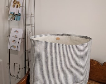Cotton/linen storage basket/basket