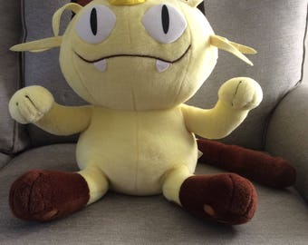 Vintage Jumbo Stuffed Pokemon Meowth