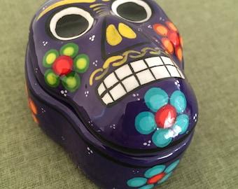 Mexican Sugar Skull Art Jewelry Box
