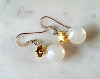 Pearl Chalcedony Puffs and Stars
