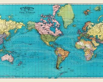 World Map - World Travel MapPrint Poster -