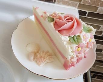 Soap Cake slice - Handmade soap, Gift for Her, Birthday Party Favors, Gift for Kids, Soap Favors, Wedding Favors
