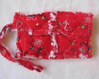 Nebraska Huskers inspired Clutch bag Cell Phone Case Nebraska Huskers inspired Wristlet Gift for Girls Gift For Her