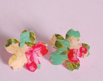 Cherry Blossom ear studs, floral
