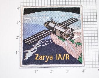 Zarya IA/R International Space Station ISS Vintage Iron-on Embroidered Collectible Patch Memorabilia Logo Insignia Emblem Keepsake NASA