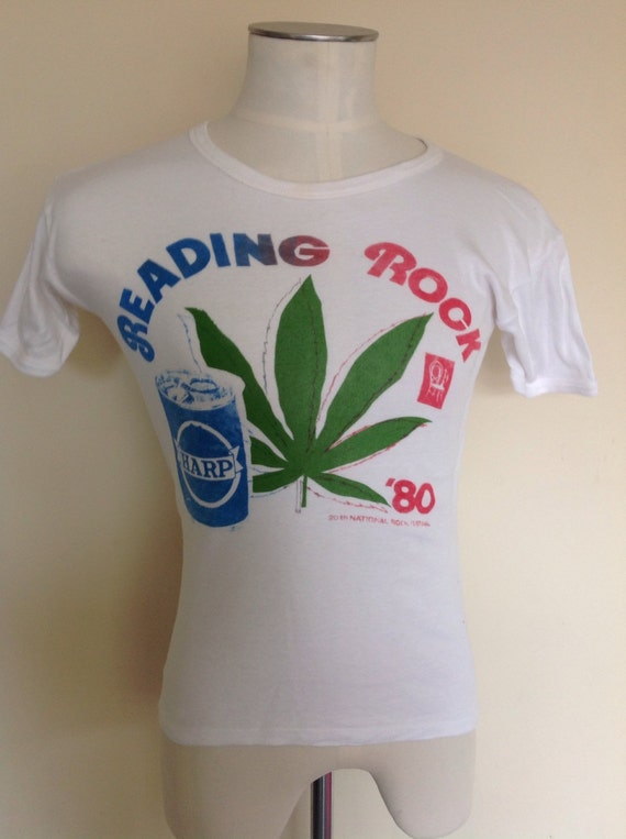 Reading Rock 1980 festival T Shirt, iron maiden, gillan, whitesnake, slade.