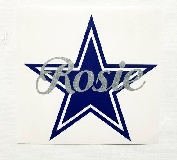Dallas Cowboys Decal With Name Decal Custom Choice Of