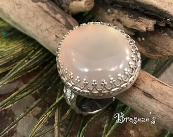 Pink Chalcedony in Sterling Silver
