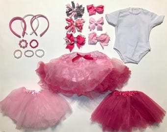 "Pretty in Pink Set! -- 18 piece set, all made to fit American Girl or 18"" Doll"