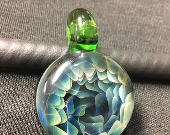 Silver Fumed Implosion Medallion