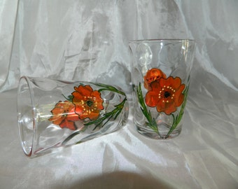 Two Glass tumblers