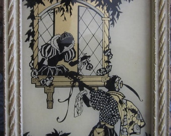 Vintage Silhouette Reliance Framed Picture