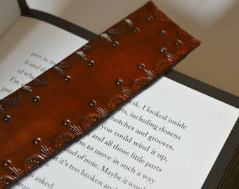 Leather pattern bookmark